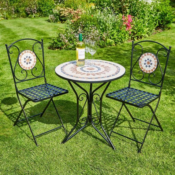 Sunflower Mosaic Bistro Set
