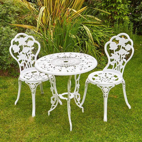Rose Bistro Set White