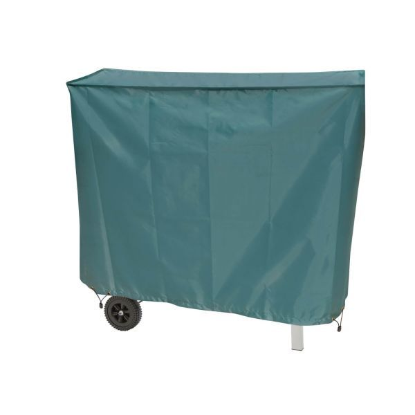 Large green heavy duty bbq cover with adjustable rope