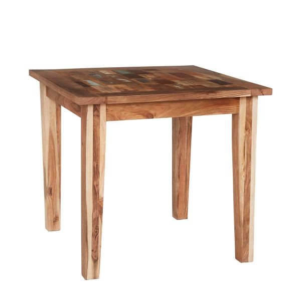 Reclaimed multicolour boat wood small dining table