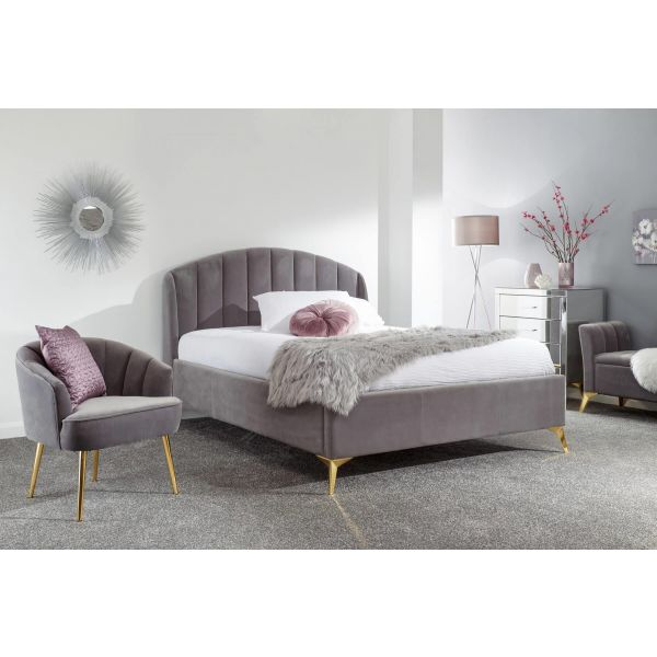 Pettine 5ft Grey Ottoman Bed