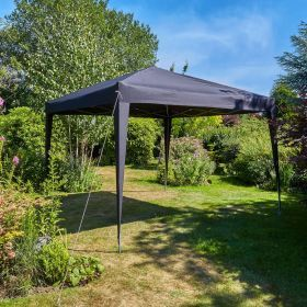 3x3m water resistant fabric pop up black gazebo