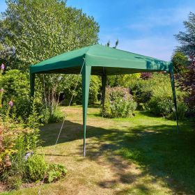 3x3m water resistant fabric pop up green gazebo