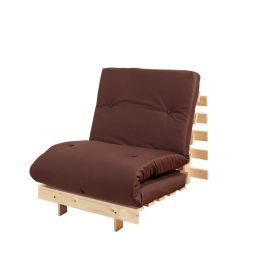 Chocolate single futon with wooden frame